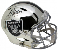 Bo Jackson Signed Los Angeles Raiders Full-Size Chrome Speed Helmet (Beckett COA) at PristineAuction.com