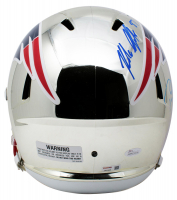 Tom Brady & Rob Gronkowski Signed New England Patriots Full-Size Chrome Speed Helmet (Tristar Hologram & JSA COA) at PristineAuction.com