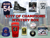 Chicago City of Champions Autograph Mystery Box - Series 3 (Limited to 100) (4 or 5 Signed Items Per Box)
