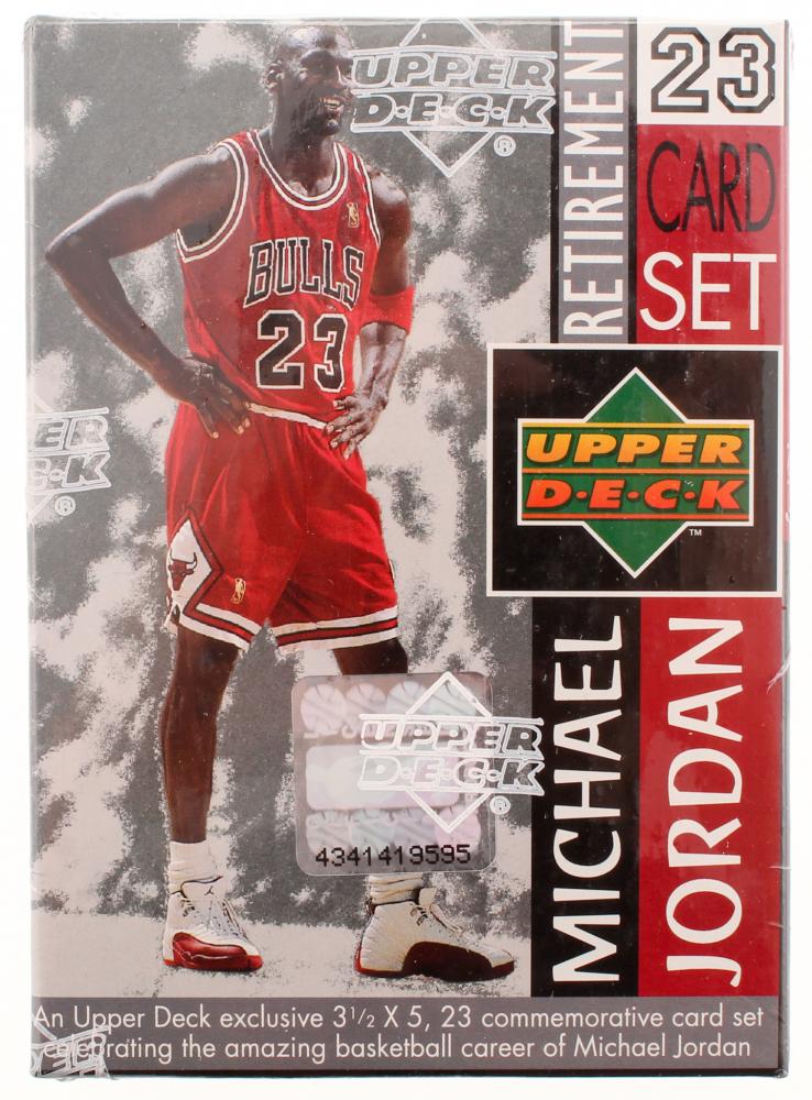 78b7c49a2bc 1999 Upper Deck Michael Jordan Retirement Card Box Set with (23) Cards