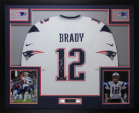 Tom Brady Signed 35x43 Custom Framed Jersey (TriStar Hologram) at PristineAuction.com