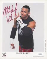 """Matt Hardy Signed WWE 8x10 Photo Inscribed """"V1"""" (JSA COA)"""