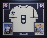 Yogi Berra Signed New York Yankees 35x43 Custom Framed Jersey (JSA COA) at PristineAuction.com