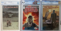 """Lot of (3) CGC & CBCS Graded """"The Walking Dead"""" Image Comic Books with #43 (8.5), #139 (9.6) & #147 (9.8)"""