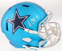 Amari Cooper Signed Dallas Cowboys Full-Size Blaze Speed Helmet (Beckett COA)