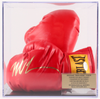 Mike Tyson Signed Everlast Boxing Gloves with Display Case (JSA COA)