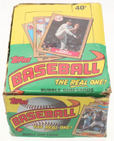 "1987 Topps ""The Real One"" Bubble Gum Baseball Cards Box with (36) Packs"