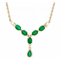 5.24 CT Green Agate & Diamond Elegant Necklace