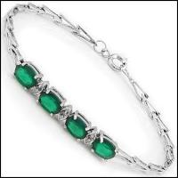 6.29 CT Emerald & Diamond Designer Bracelet