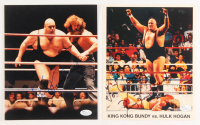 Lot of (2) King Kong Bundy Signed 8x10 Photos (JSA Hologram & COA)