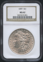 1899 $1 Morgan Silver Dollar (NGC MS 62)