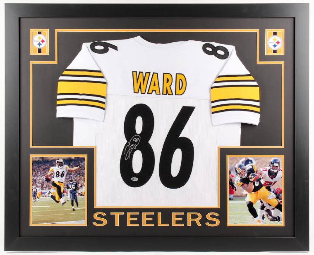 307507ec66a Hines Ward Signed Pittsburgh Steelers 35x43 Custom Framed Jersey (Beckett  COA) at PristineAuction.