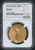 2010 $50 Saint-Gaudens Gold Eagle (NGC MS 69)