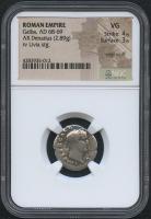 AD 68-69 Roman Empire - Galba - AR Denarius Coin (NGC VG) at PristineAuction.com