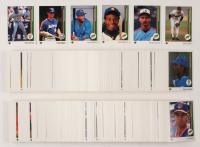 1989 Upper Deck Complete Low Number Set of (700) Baseball Cards with #1 Ken Griffey Jr. RC, #13 Gary Sheffield RC, #17 John Smoltz RC, #273 Craig Biggio RC, #25 Randy Johnson RC, #440 Barry Bonds