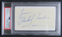 "Richard Nixon Signed Cut Inscribed ""Love"" (PSA Encapsulated)"