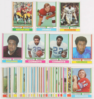 Lot of (49) 1974 Topps Football Cards with #32 Dan Dierdorf, #28 Bob Hayes, #58 Billy Kilmer, #65 Gene Upshaw, #95 Calvin Hill