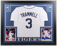Alan Trammell Signed LE Detroit Tigers 35x43 Custom Framed Jersey (JSA COA)
