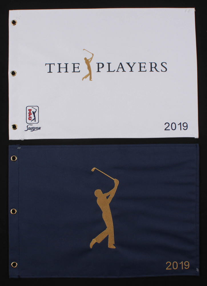 """Lot of (2) 2019 """"The Players Championship"""" Golf Pin Flags at PristineAuction.com"""