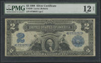 1899 $2 Two Dollars U.S. Silver Certificate Large Size Bank Note (PMG 12)