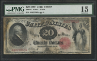 1880 $20 Twenty Dollars Legal Tender Large Bank Note Bill (PMG 15)