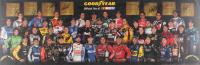 2012 NASCAR Drivers 11x34 Poster Signed by (43) with Dale Earnhardt Jr., Jeff Gordon, Danica Patrick, Tony Stewart, Kevin Harvick, Kyle Busch, Joey Logano (JSA ALOA)