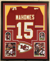 Patrick Mahomes II Signed Kansas City Chiefs 34x42 Custom Framed Jersey (Beckett COA)