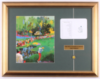 "Leroy Neiman ""The 16th at Augusta National"" 17.5x22.5 Custom Framed Print Display with Original Augusta National Scorecard & Pin"