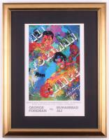 "LeRoy Neiman ""Muhammad Ali vs. George Foreman"" World Heavyweight Championship 17.5x22.5 Custom Framed Print Display"