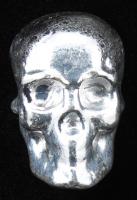 2 oz Atlantis Hand-Poured Silver Skull