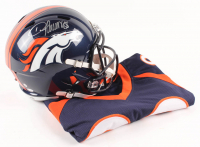 Lot of (2) Demaryius Thomas Signed Denver Broncos Items with (1) Speed Full-Size Helmet & (1) Jersey (JSA COA, Denver Autographs COA, & Leaf Hologram)