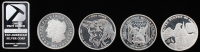 Lot of (5) Assorted 1 Troy Ounce Silver Rounds & (1) Bullion
