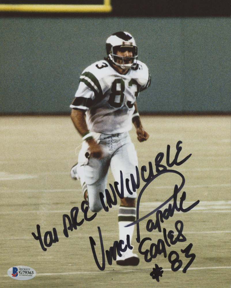 173ca86646d Vince Papale Signed Philadelphia Eagles 8x10 Photo Inscribed