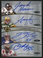 2009 Ultimate Collection Ultimate Generations Signature #HHLB James Laurinaitis / A.J. Hawk / Jack Ham / Derrick Brooks /25