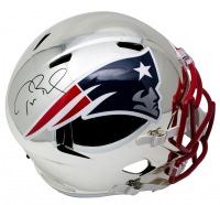 Tom Brady Signed Patriots Full-Size Chrome Speed Helmet (Tristar Hologram) at PristineAuction.com