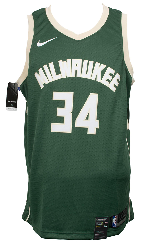 e444cee5a Giannis Antetokounmpo Signed Milwaukee Bucks Nike Swingman Jersey (JSA COA)  at PristineAuction.com