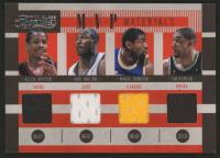 2010-11 Timeless Treasures MVP Materials Quads #2 Allen Iverson / Karl Malone / Magic Johnson / Tim Duncan