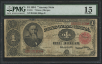 1891 $1 One Dollar U.S. Treasury Large Bank Note (PMG 15)