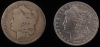 Lot of (2) 1889-O Morgan Silver Dollars
