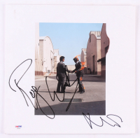 """Roger Waters & Nick Mason Signed Pink Floyd """"Wish You Were Here"""" Vinyl Record Album Cover (PSA LOA)"""