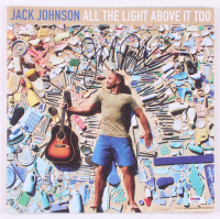 "Jack Johnson Signed ""All the Light Above It Too"" Vinyl Record Album Cover (PSA COA)"