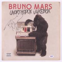 """Bruno Mars Signed """"Unorthodox Jukebox"""" Vinyl Record Album Cover (PSA COA)"""