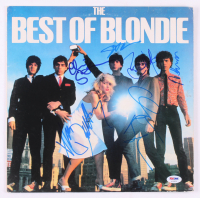 "Blondie ""The Best of Blondie"" Vinyl Record Album Cover Signed by (6) With Debbie Harry, Chris Stein, Clem Burke, Nigel Harrison (PSA LOA)"