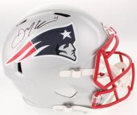 Julian Edelman Signed New England Patriots Full-Size Speed Helmet (JSA COA)