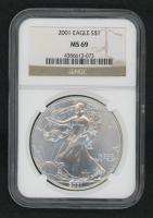 2001 Silver Eagle $1 Dollar Coin (NGC MS 69)