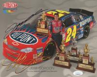 Jeff Gordon Signed NASCAR 8x10 Print (JSA COA)
