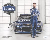 Jimmie Johnson Signed NASCAR 8x10 Print (JSA COA)