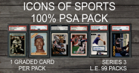 """ICONS OF SPORTS"" 100% ALL PSA/DNA Mystery Box Series 3 at PristineAuction.com"