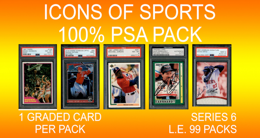 "d38c9e20498 ""ICONS OF SPORTS"" 100% ALL PSA DNA Mystery Box Series 6"