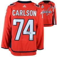 John Carlson Signed Washington Capitals 2018 Stanley Cup Final Alternate Captain Jersey (Fanatics Hologram)